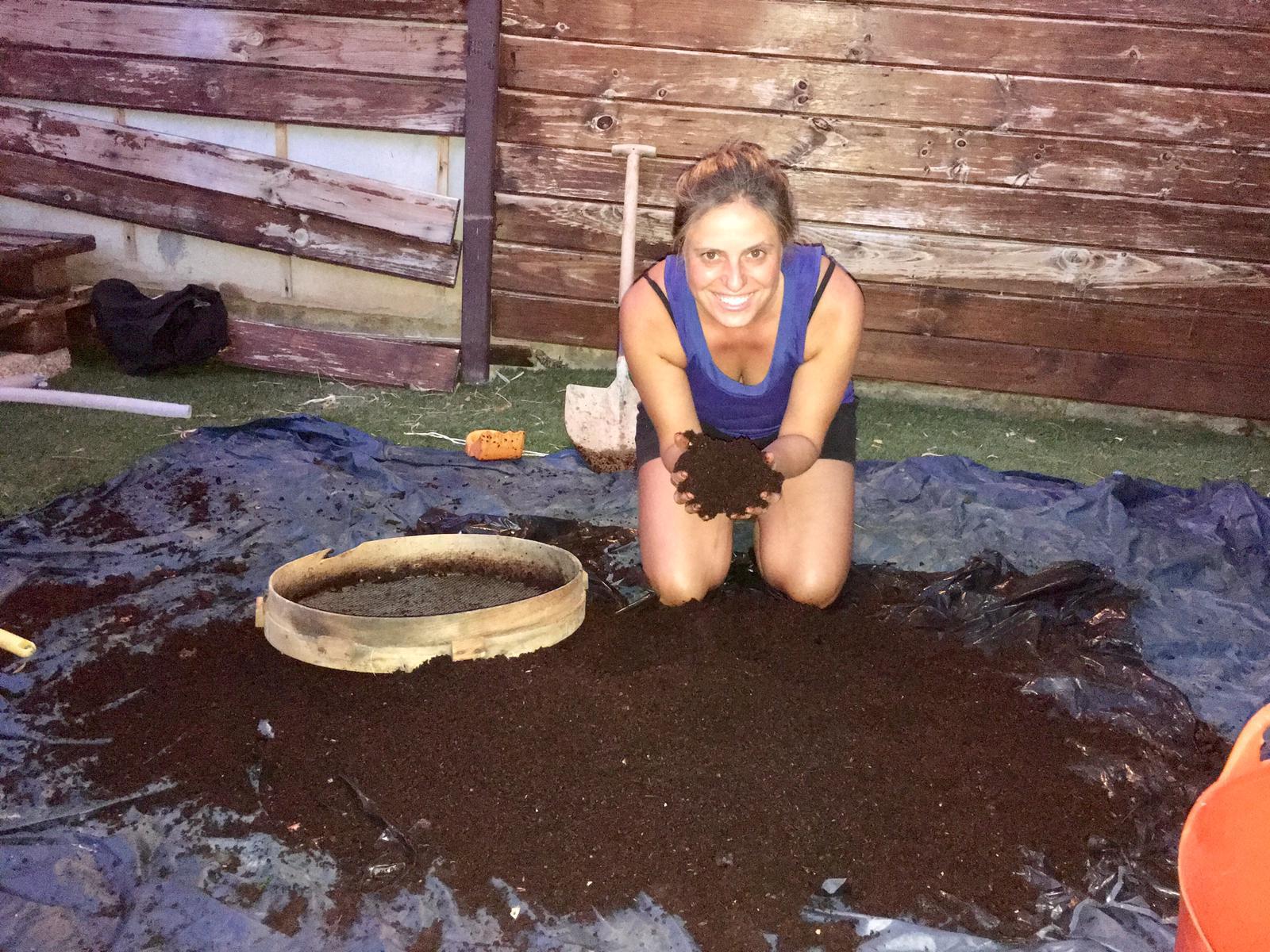 Criba de compost